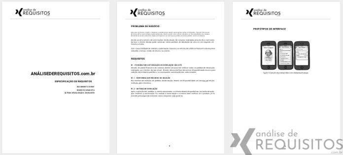Modelo de documento de especificação de requisitos de software