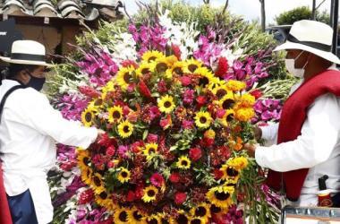 Los silleteros, un símbolo de la región de Antioquia