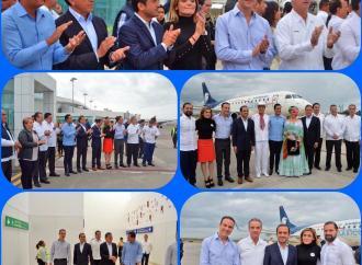 Abrieron nueva ruta aérea Veracruz-Monterrey de Aeroméxico
