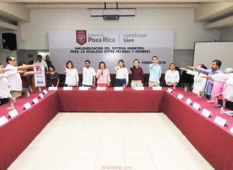 Poza Rica Implementa su Sistema Municipal para la Igualdad entre Hombres y Mujeres
