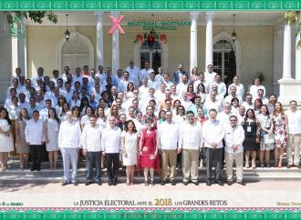 TEV participa en X Encuentro Nacional de Magistradas y Magistrados Electorales