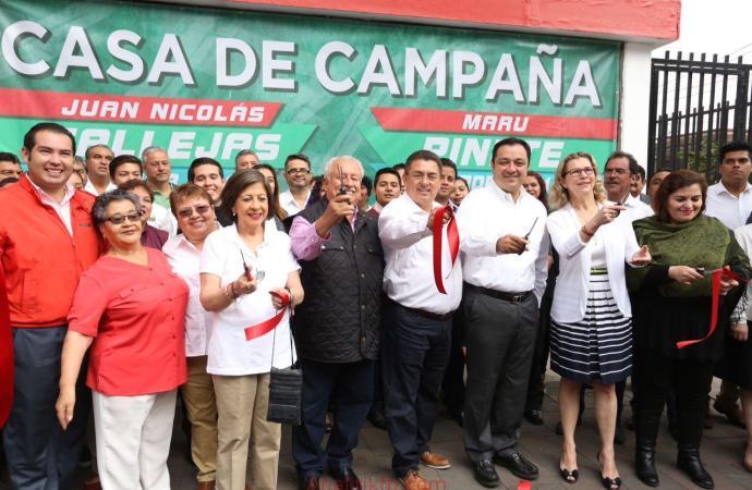 Inauguran Casa de Campaña de Juan Nicolás Callejas y Maru Pinete