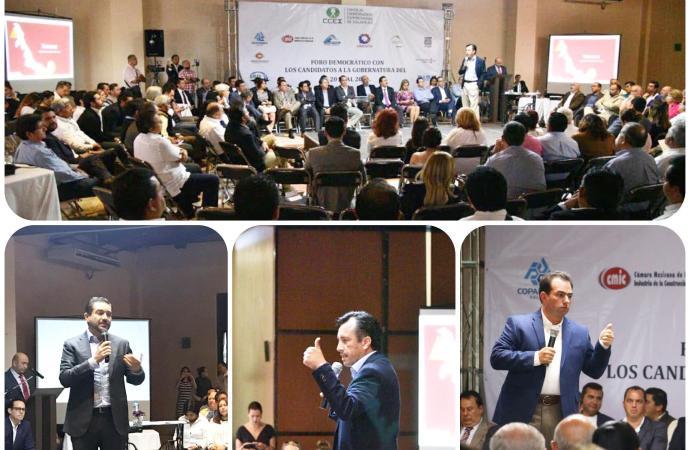 Hubo pasarela de candidatos para el Consejo Coordinador Empresarial en Xalapa