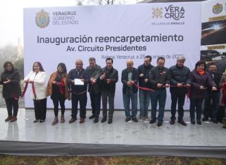 Diputadas asisten a la inauguración del reencarpetamiento de avenida Circuito Presidentes