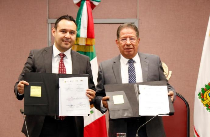 Firman Congreso y SEFIPLAN convenio para capacitar a sus servidores públicos