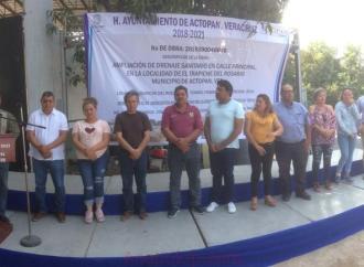 En Trapiche del Rosario son beneficiados con obra de Ampliación Drenaje Sanitario