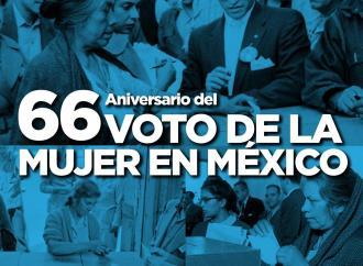 Aniversario 66 del voto de las mujeres plantea nuevos retos: GLPAN