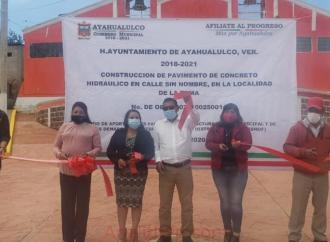 La Toma recibe obra pública: Filiberto Morales