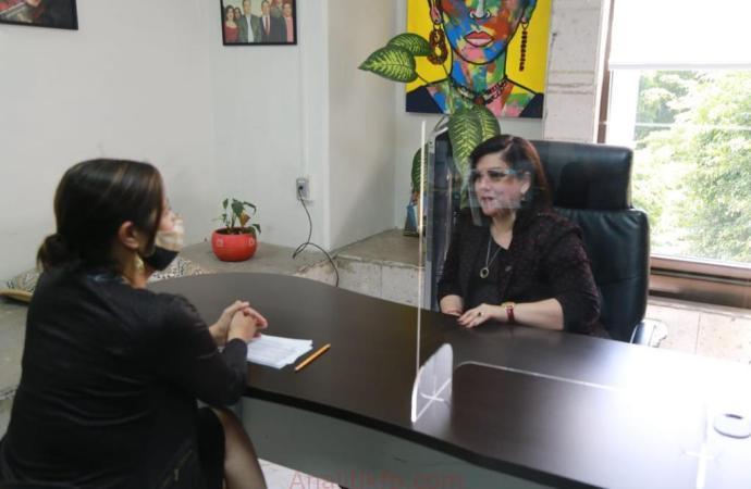 Revisan Rosalinda Galindo y titular de IVAI, el Proyecto de Presupuesto de Egresos 2021