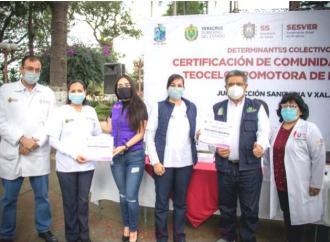 Teocelo, primero en obtiene la certificación como Comunidad Urbana Promotora de la Salud