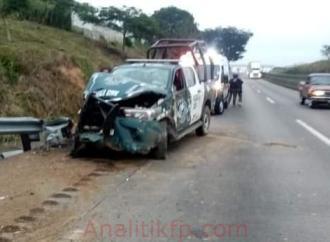 Fuerte accidente de elementos de la Fuerza Civil en la autopista Veracruz – Córdoba