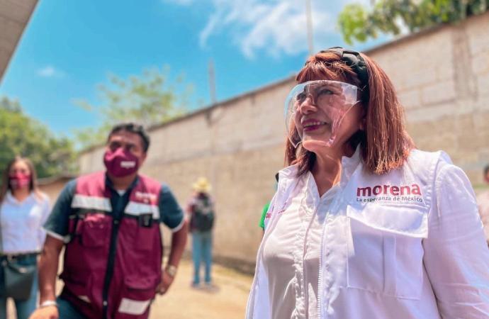 Xico ya despertó, se moreniza y se transforma día con día: Carmen Mora