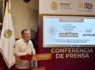 Registra SSP avances en seguridad e incremento salarial a policías de Veracruz