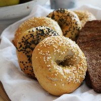 Homemade New York style bagels