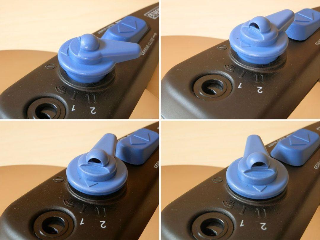 Selector de presión en Monix Veloce