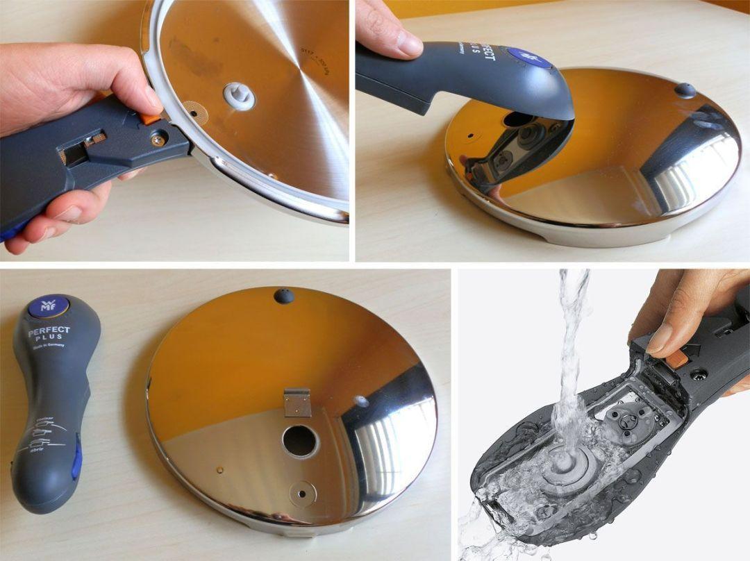 Separación del mango de la tapa en la WMF Perfect Plus - Lavado