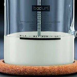 Marca de llenado Máximo en Bodum Latteo