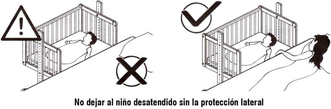 no dejar al niño desatendido sin proteccion lateral