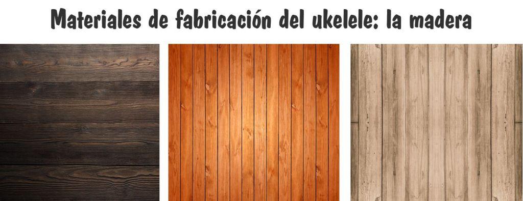 materiales ukelele - madera