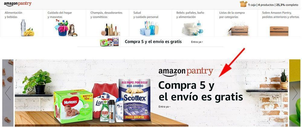 Amazon pantry envio gratis