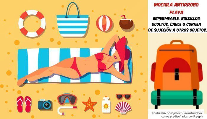 mochila antirrobo playa