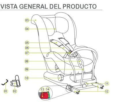 partes silla max fix ii