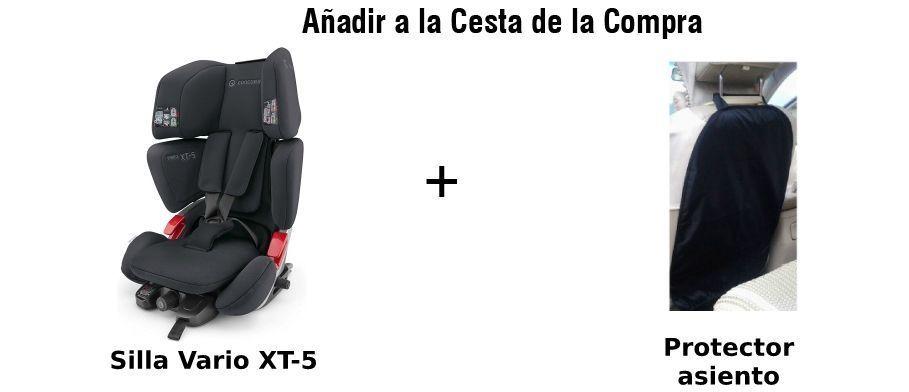 paquete silla vario xt-5 y protector asiento