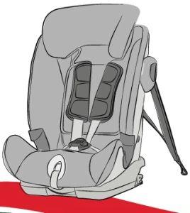 silla de coche grupo 123 con ISOFIX