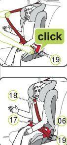 ajuste cinturón kidfix sl