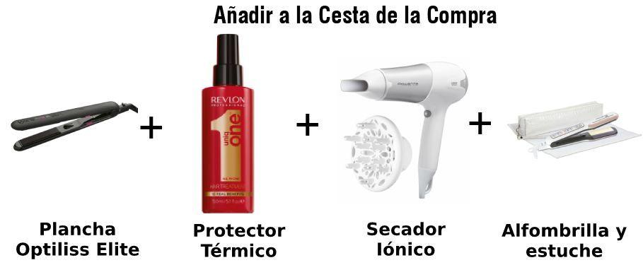 paquete optiliss protector revlon secador y alfombrilla