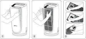 cambio filtros purificador aire rowenta