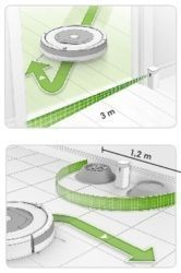 pared virtual robot aspirador roomba