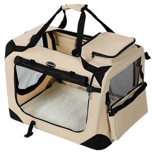 SONGMICS 50 x 35 x 35 cm Bolsa de Transporte para Mascotas Transportín Plegable