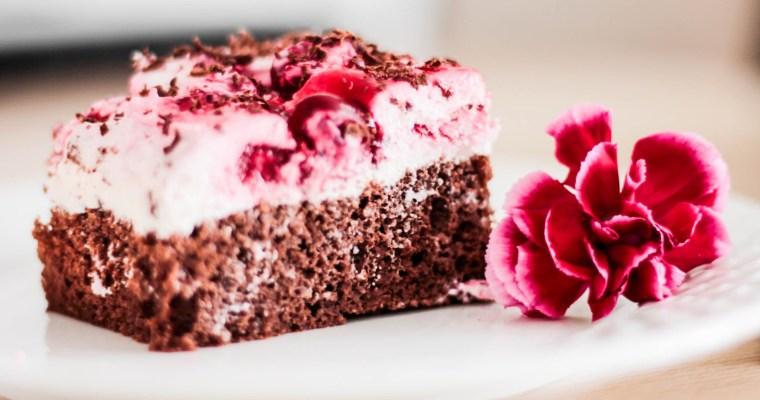 Ciasto czekoladowe z wiśniami i mascarpone
