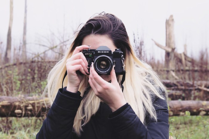 tini groen, analoge fotografie