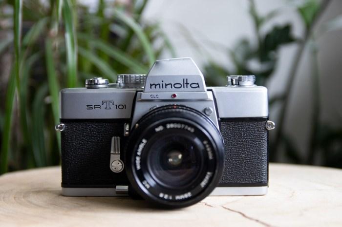 analoge camera, analoge camera controleren, analoge camera testen, minolta, minolta srt101