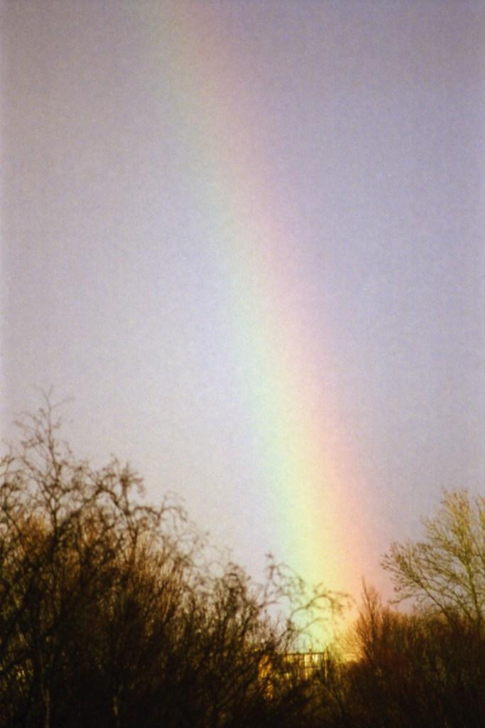 regenboog, Canon A1, Lomo 800