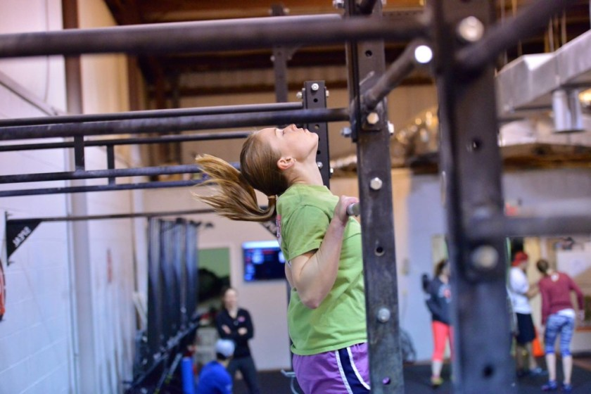 One of Terrie's many C2B pullups Friday night