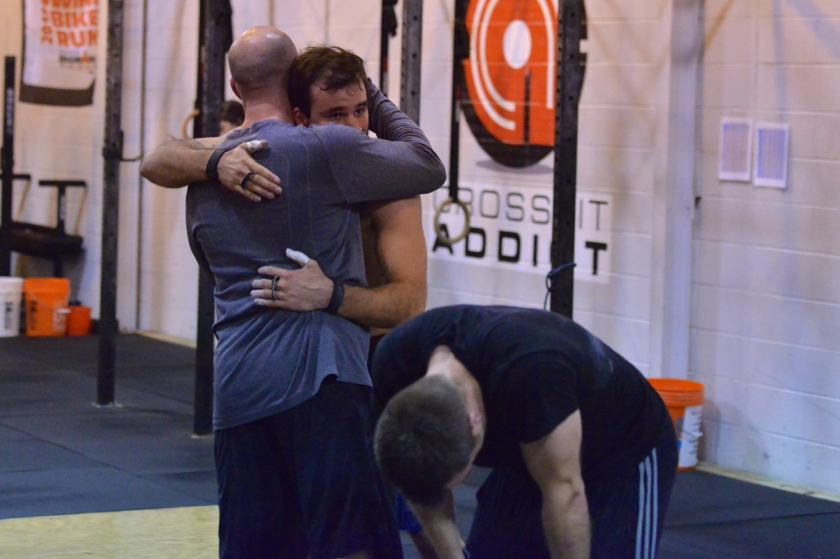 Warfel, McCloud & Trey embrace