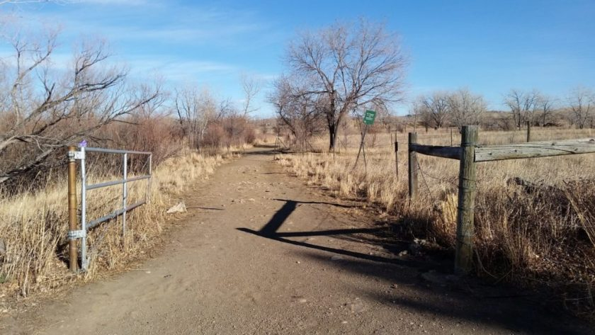 Entrance to Bear Creek Ditch Trail