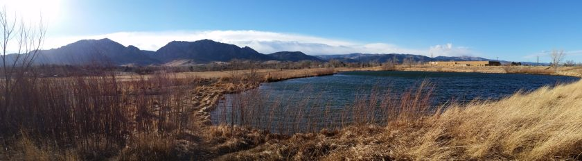 Panoramic view of Mosquito Lake, Boulder Colorado