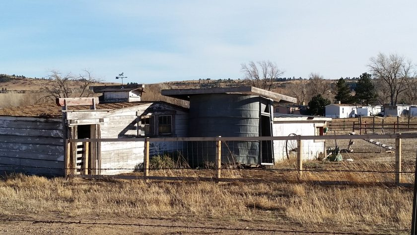 An old house/barn on bear creek ditch trail