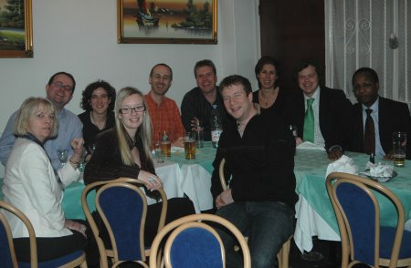 Dinner After Founding Institute Of AR with Jonny Bentwood, Nathalie Harrrington, Lore Ridings, Duncan Chapple, Hannah Kirkman, Ludovic Leforestier, David Taylor, Paula Schmidt, Erik Vonk, Nnamdi Ugo