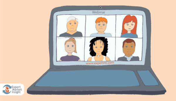 Webinars, illustration for blog post by Jonathon Gordon / EMI on the iIAR website