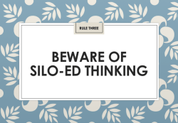 Jon Collins: Beware of silo-ed thinking (IIAR website)