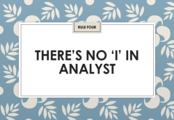 """Jon Collins: There's no """"I"""" in analyst (IIAR website)"""