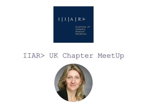 IIAR> UK Chapter Café Anja Steinmann