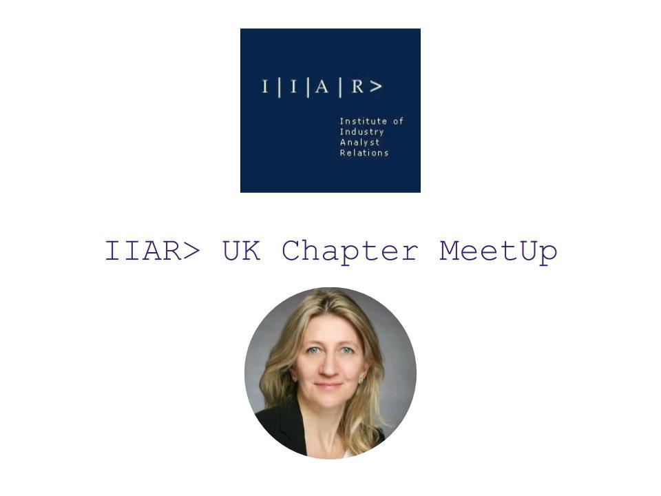 IIAR> Monthly Meet-up Apr'21