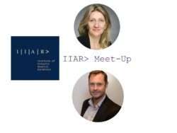 IIAR> UK Chapter Hero image with Anja Steinmann and Tim O'Sullivan