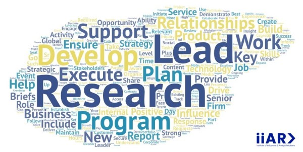 IIAR> AR job description word cloud